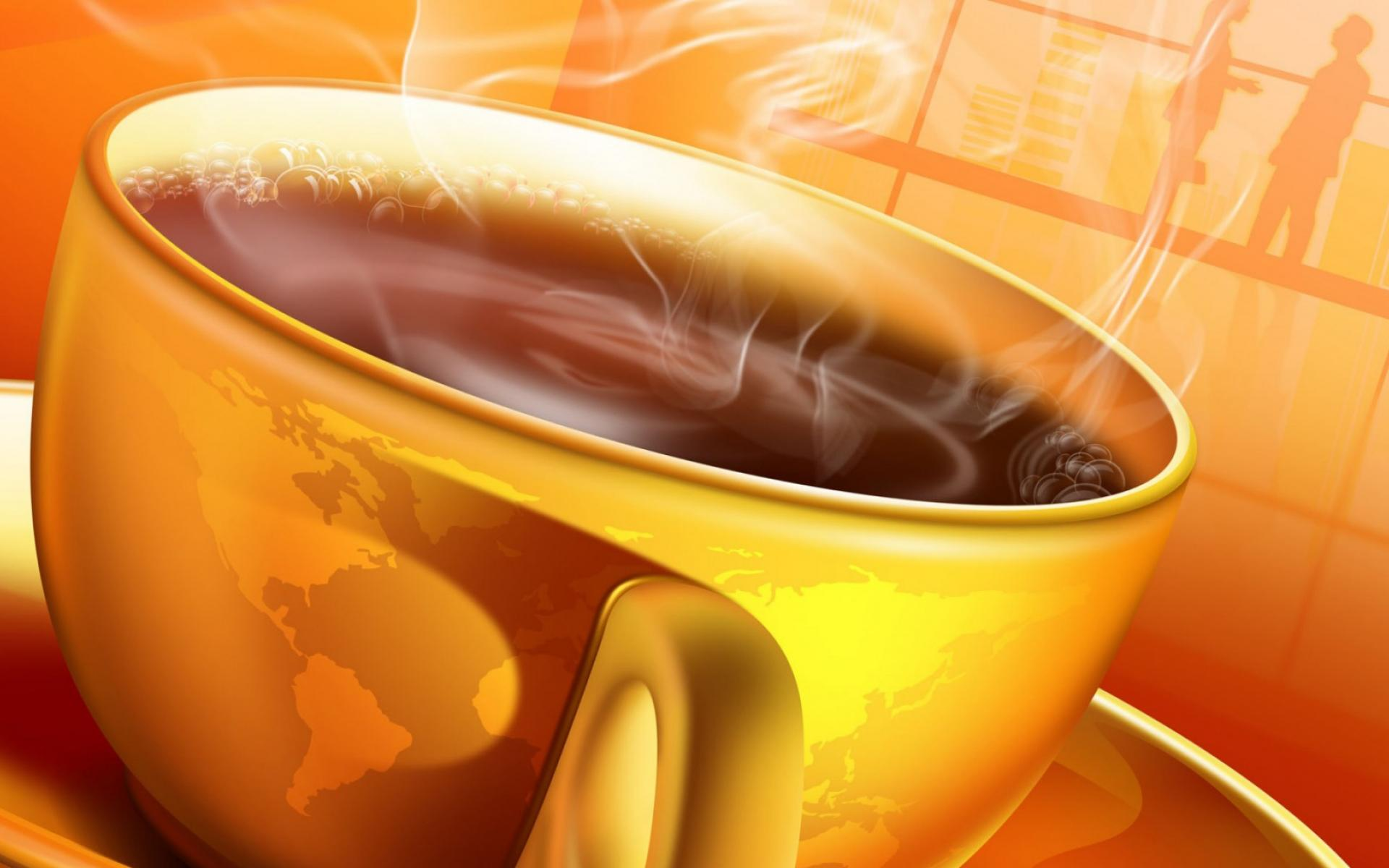 ���� 3D Coffee Cup 1920x1200