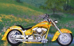 90s Custom Chrome Big Twin Softail / 1600x1200