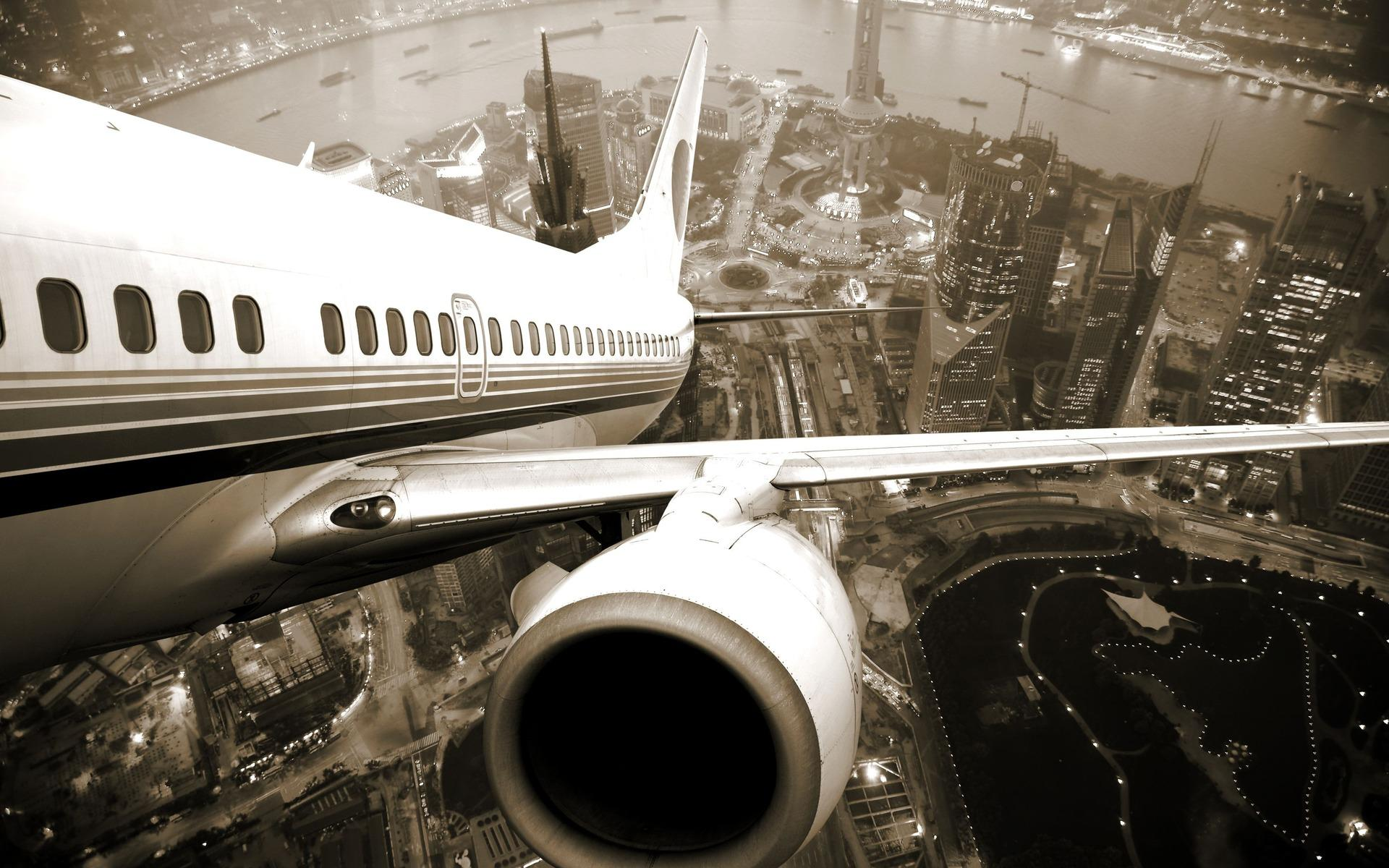 Обои Airplane shanghai 1920x1200