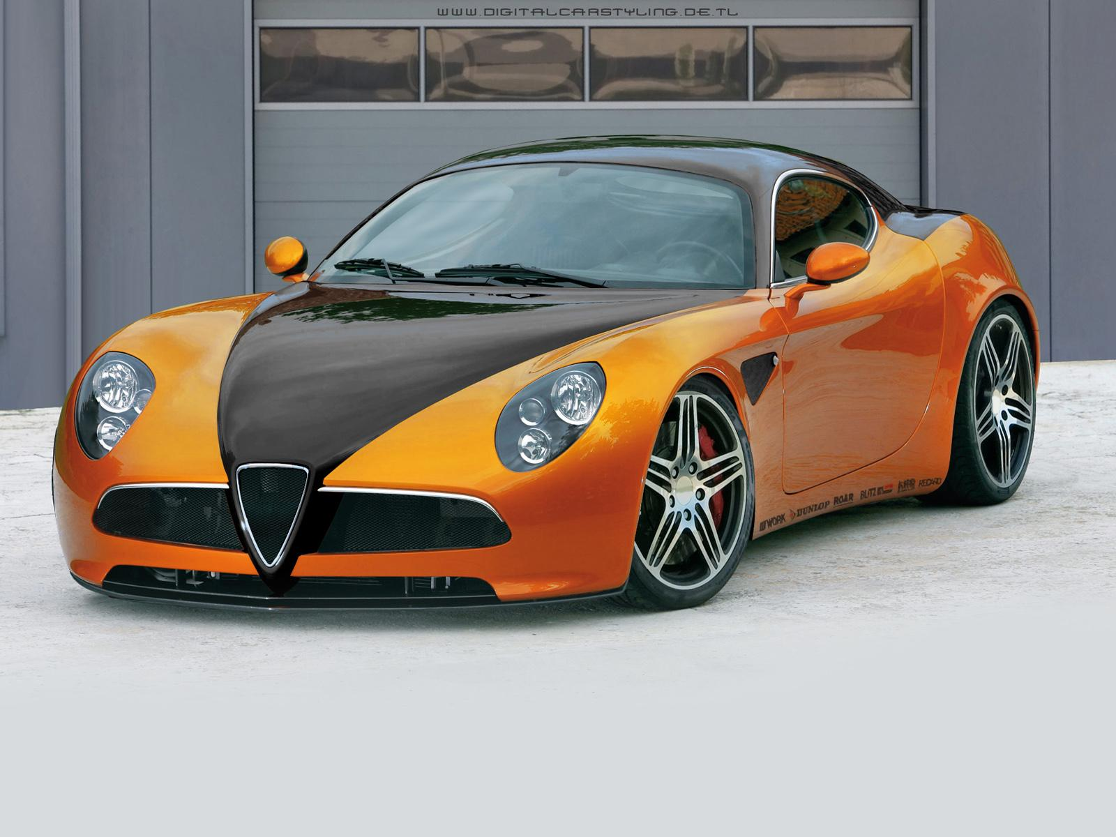 Обои ALFA ROMEO ORANGE 1600x1200