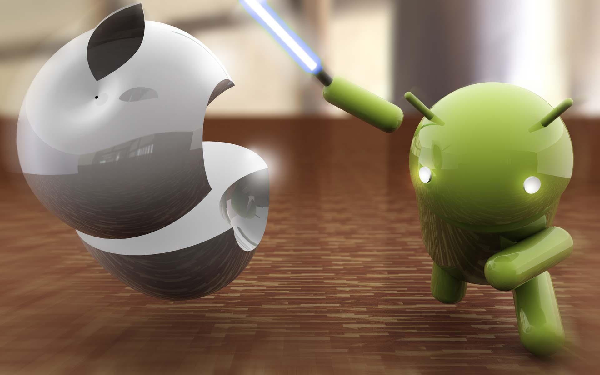 Обои андроид яблоко 1920x1200