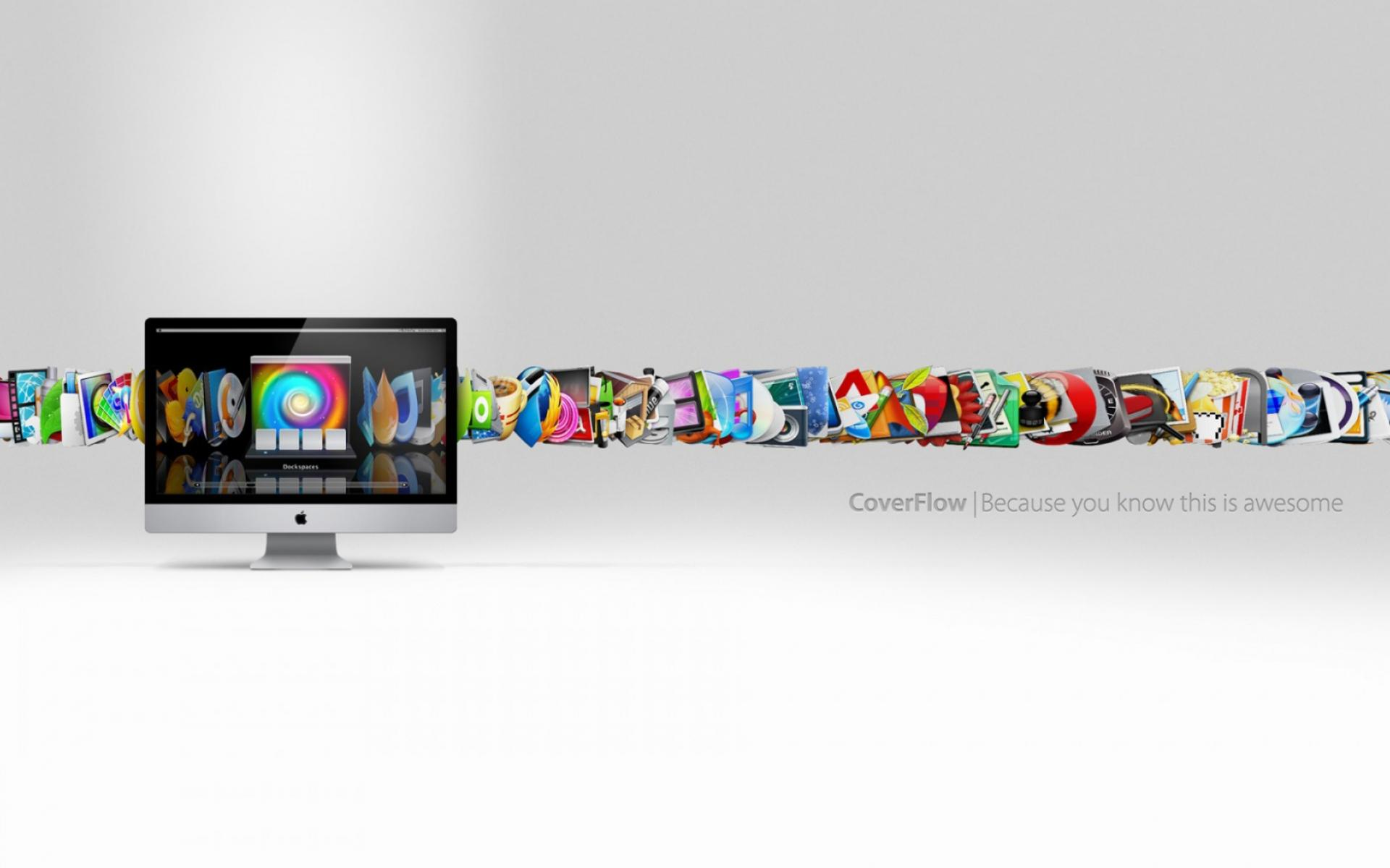 Обои Apple CoverFlow 1920x1200