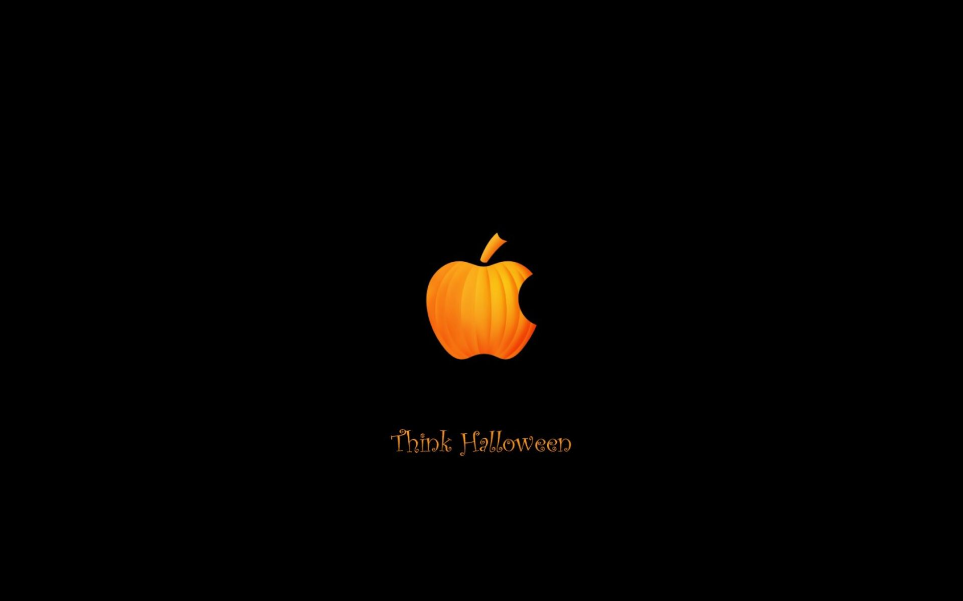 Обои Apple Halloween 1920x1200
