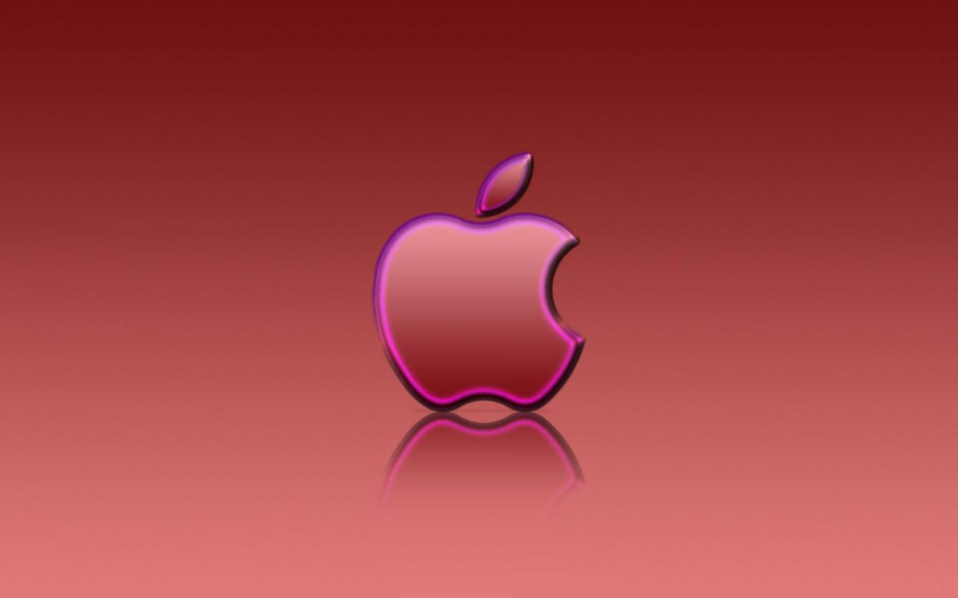 Обои Apple Red Reflexion 1920x1200