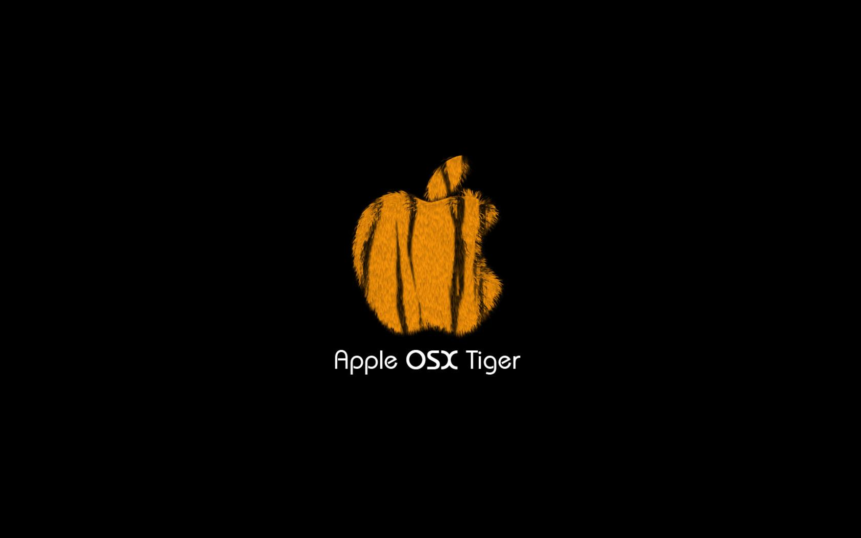 Обои Apple Tiger - скачать 1680x1050