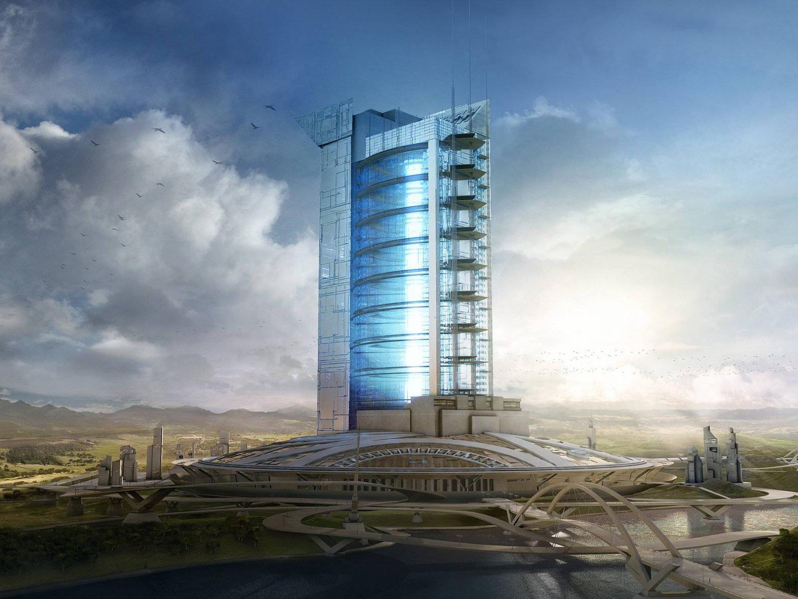 Архитектура будущего обои 1600x1200