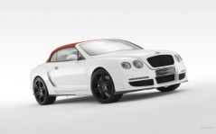 Белый Bentley Continental GTC / 1920x1200