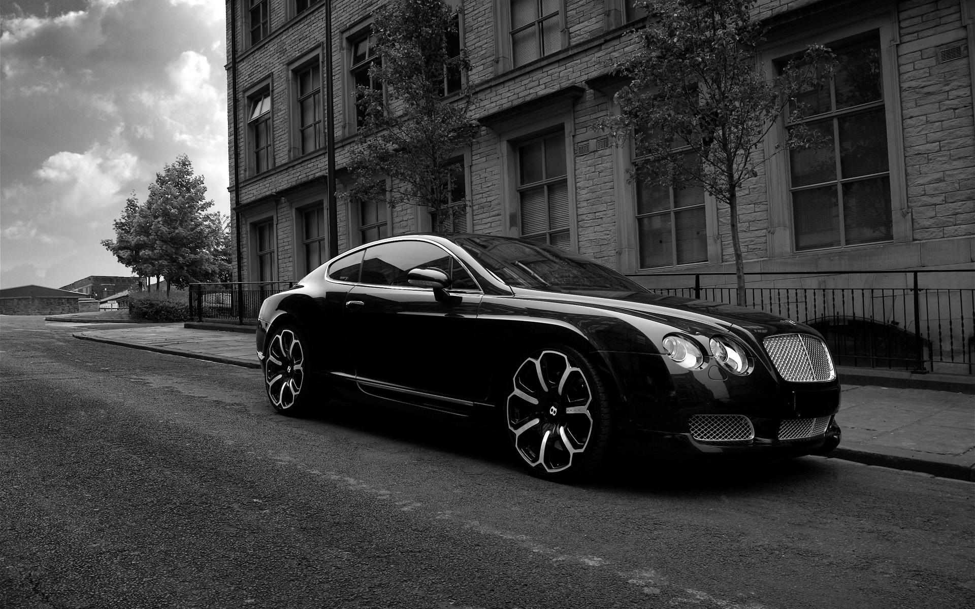 Обои Bentley GTS black 1920x1200