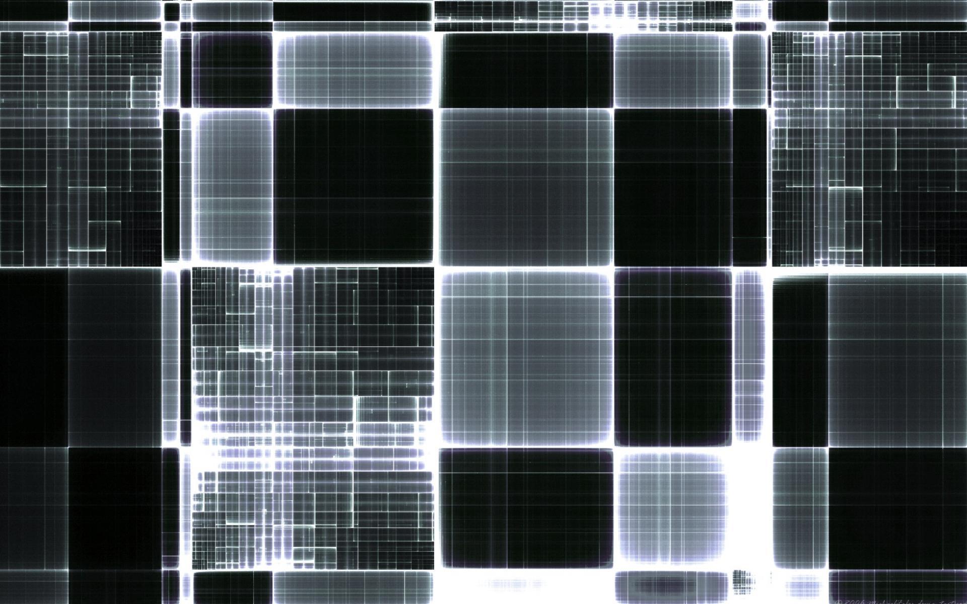 Черно белые — кубическая абстракция
