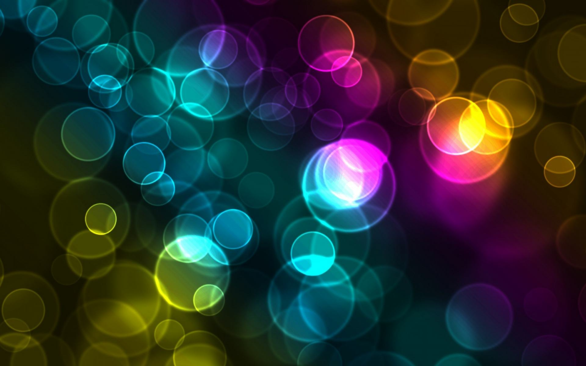 Обои Colorful Bokeh 1920x1200