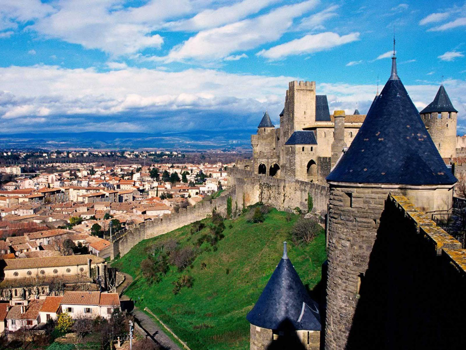 ���� Comtal Castle,Carcassonne,France 1600x1200