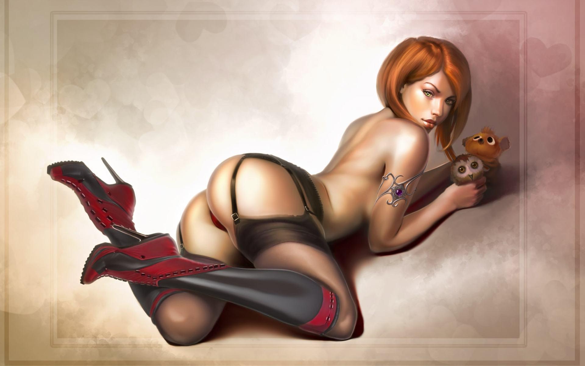 Рисованные голые девушки из игр 13 фотография