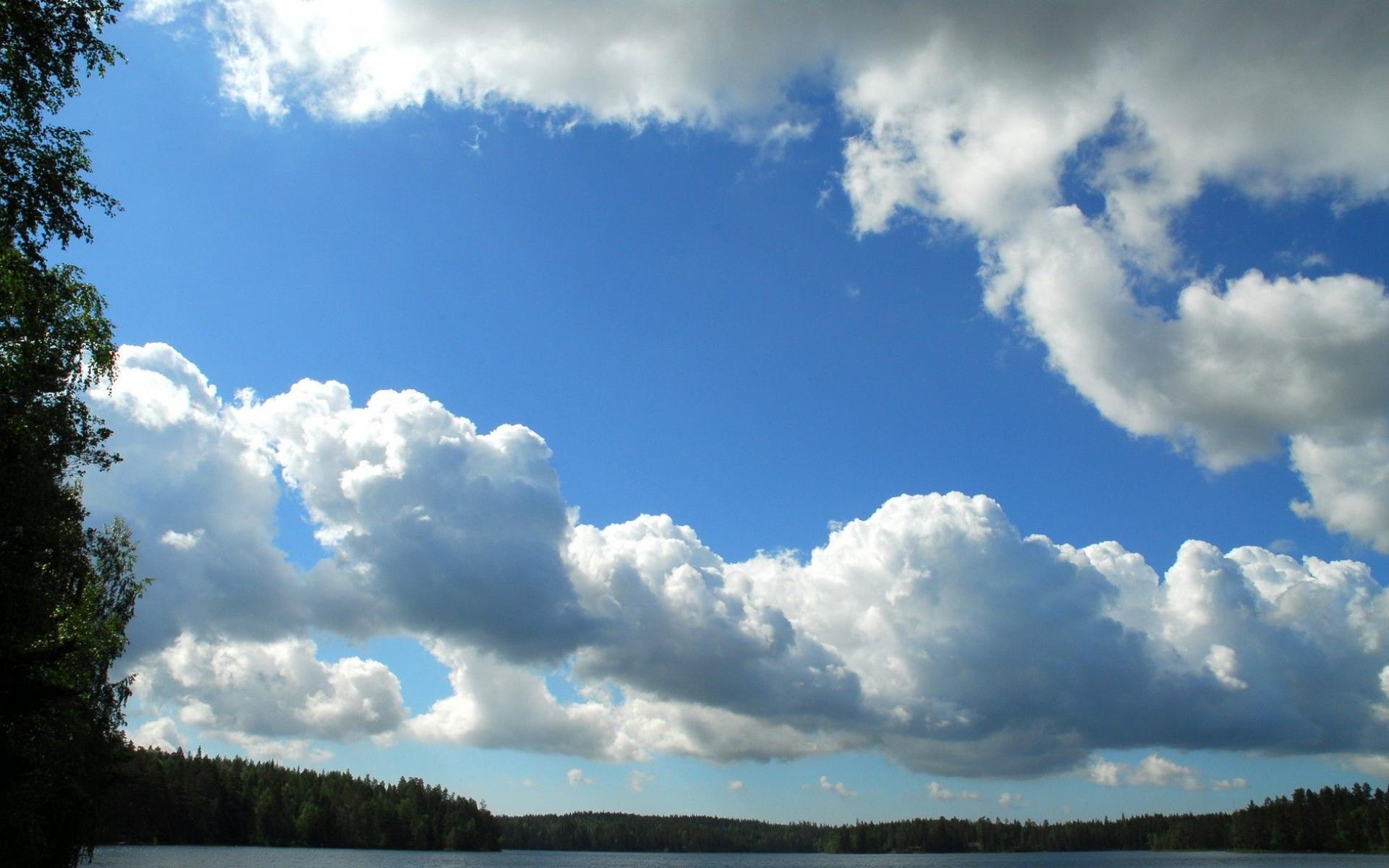 Скачать обои дневные облака 1920x1200