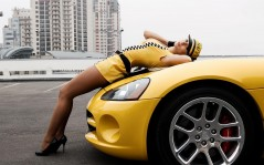 Dodge Viper hot girl / 1600x1200