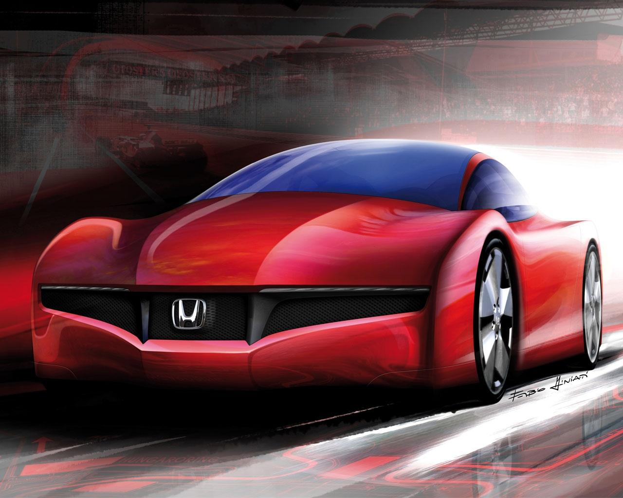 Обои Drawing Honda 1280x1024
