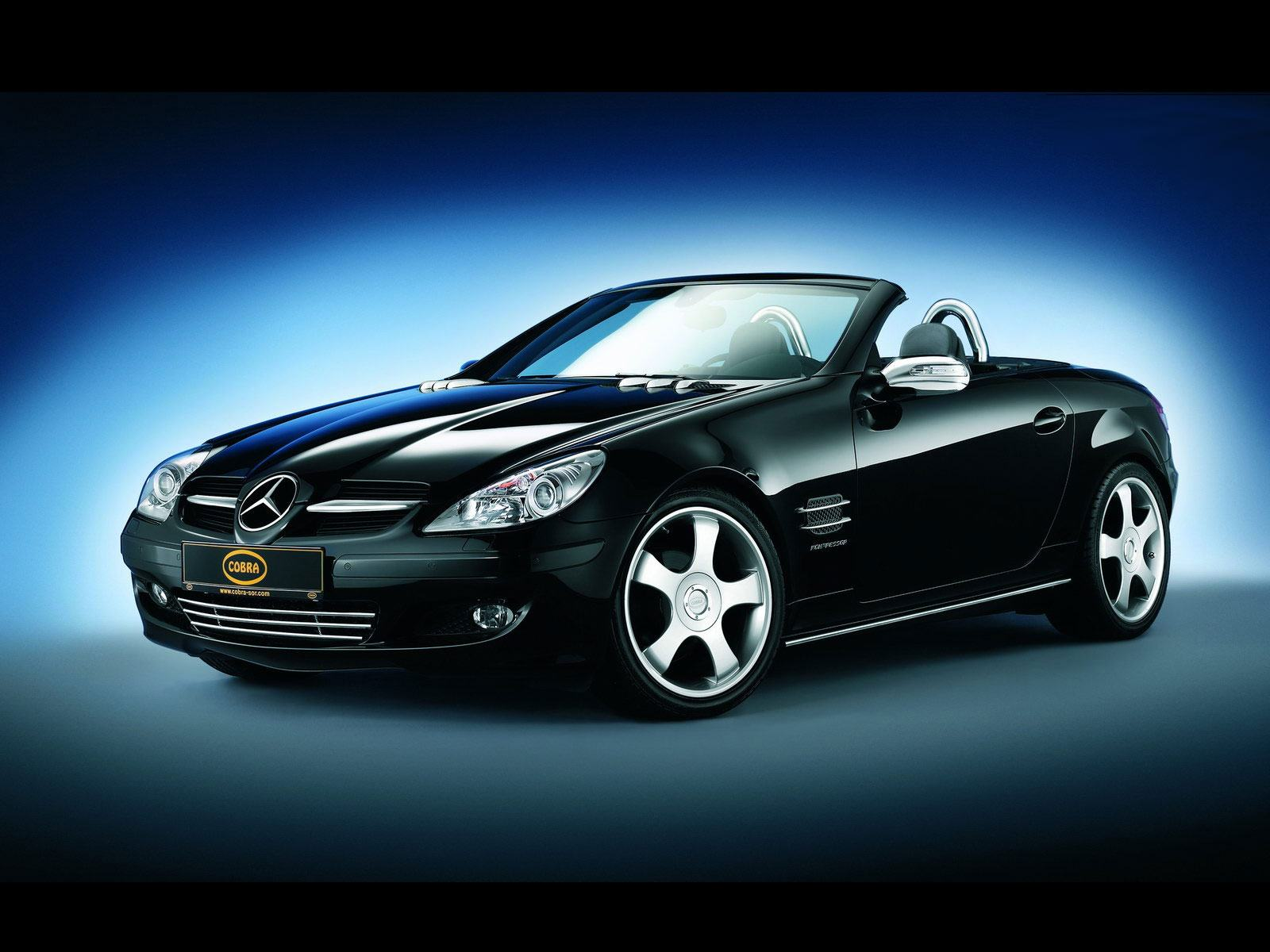 Обои Drawing MB SLK Cobra 1600x1200