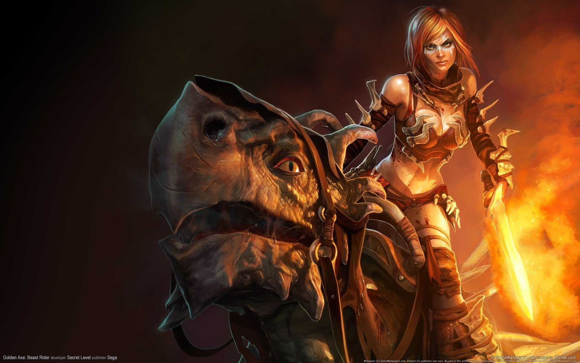 Обои Golden Axe Beast Rider 1920x1200