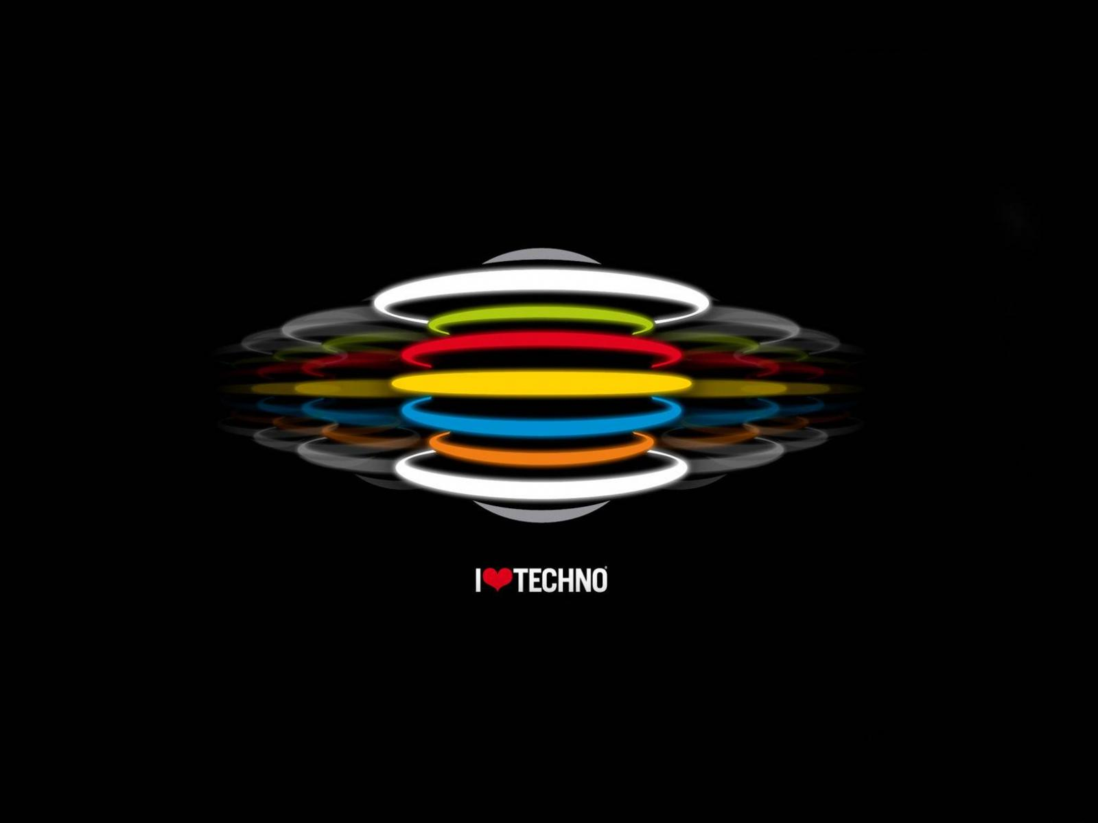 ���� I love techno 1600x1200