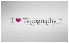 I love typography / 1920x1200