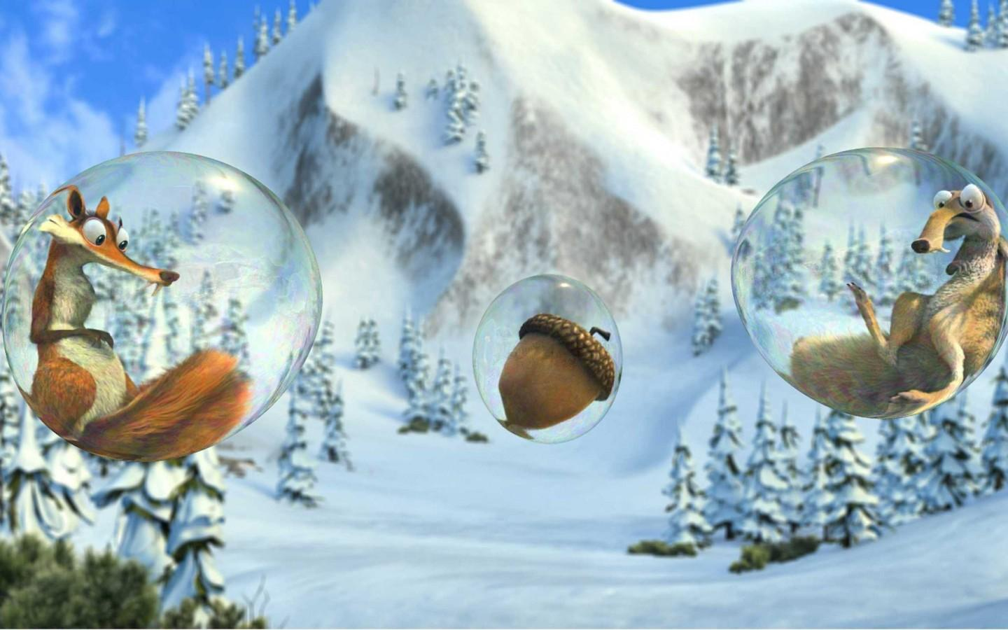 Обои IceAge-bubbles 1440x900
