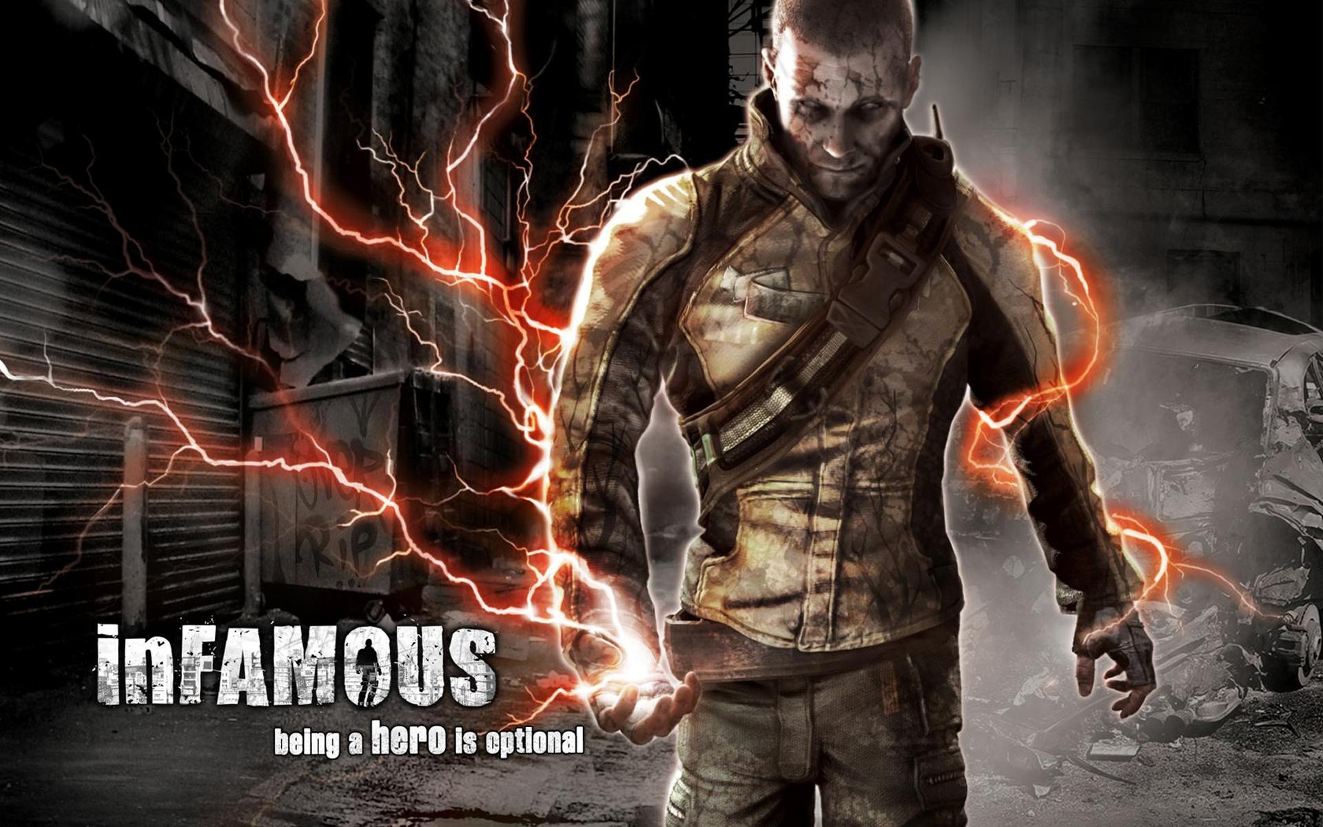 Обои InFamous, PlayStation 3 1920x1200