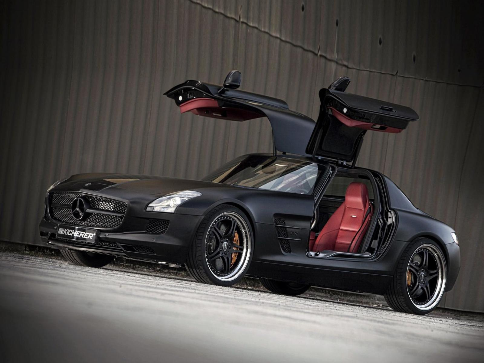 Обои Kicherer Mercedes Benz SLS Supersport Edition Blac 1600x1200