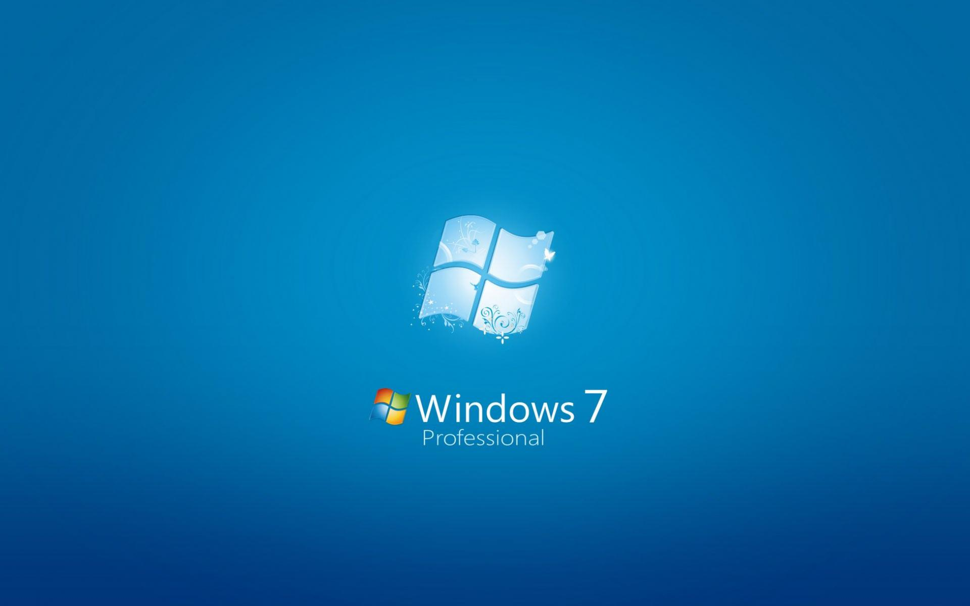 Обои LOGO WINDOWS SEVEN 1920x1200