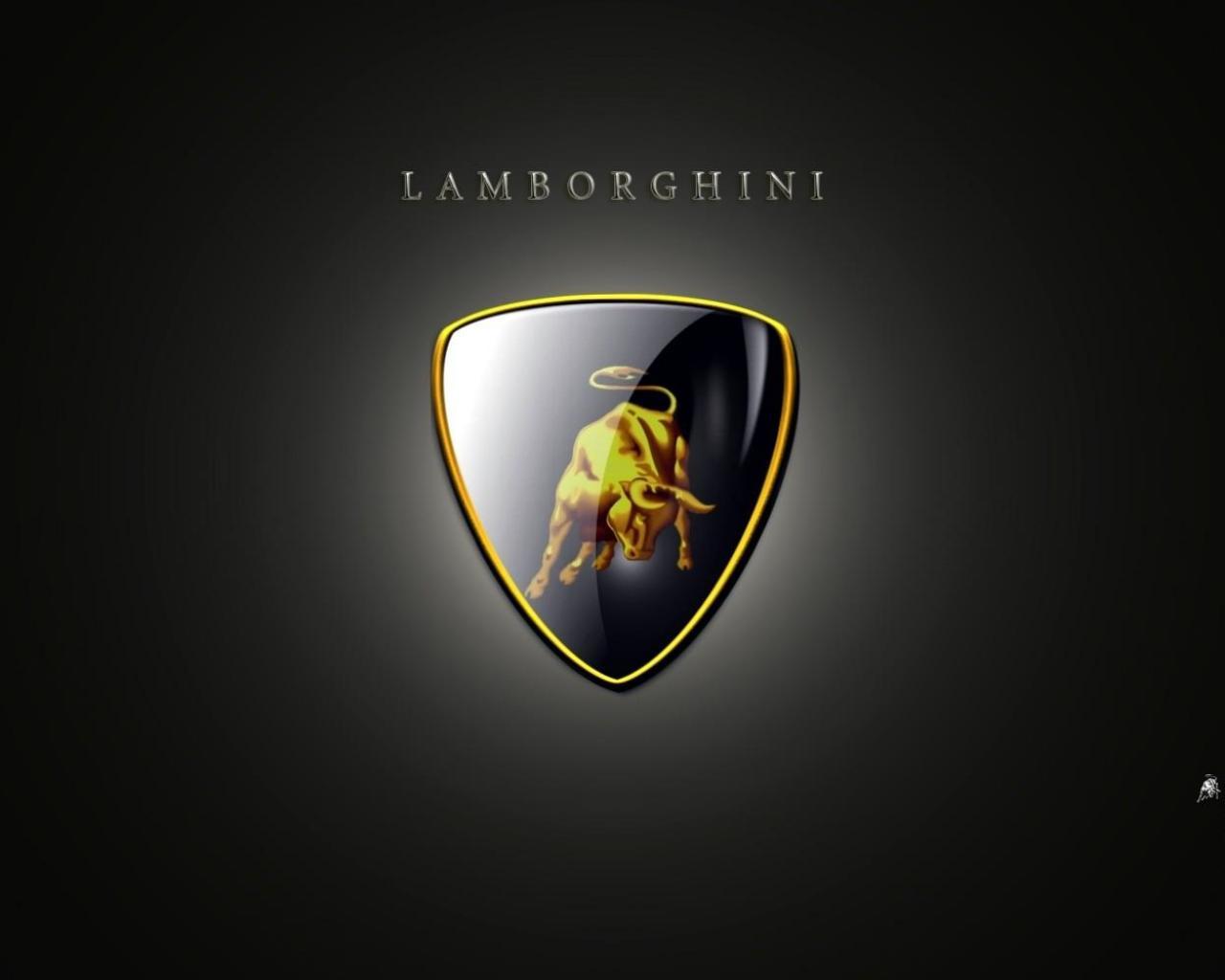 Обои логотип lamborghini авто 1280x1024