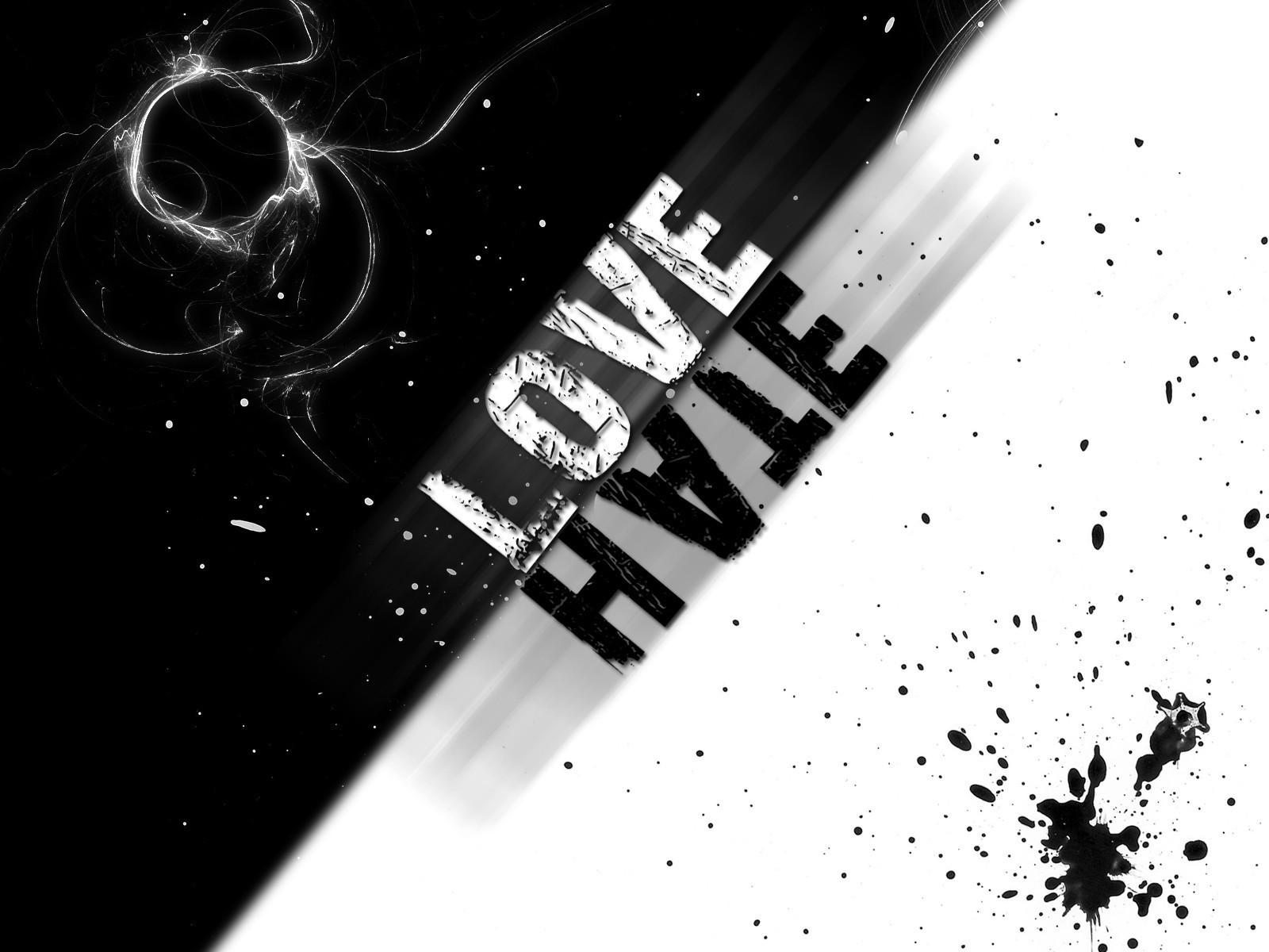 Обои Love and Hate 1600x1200