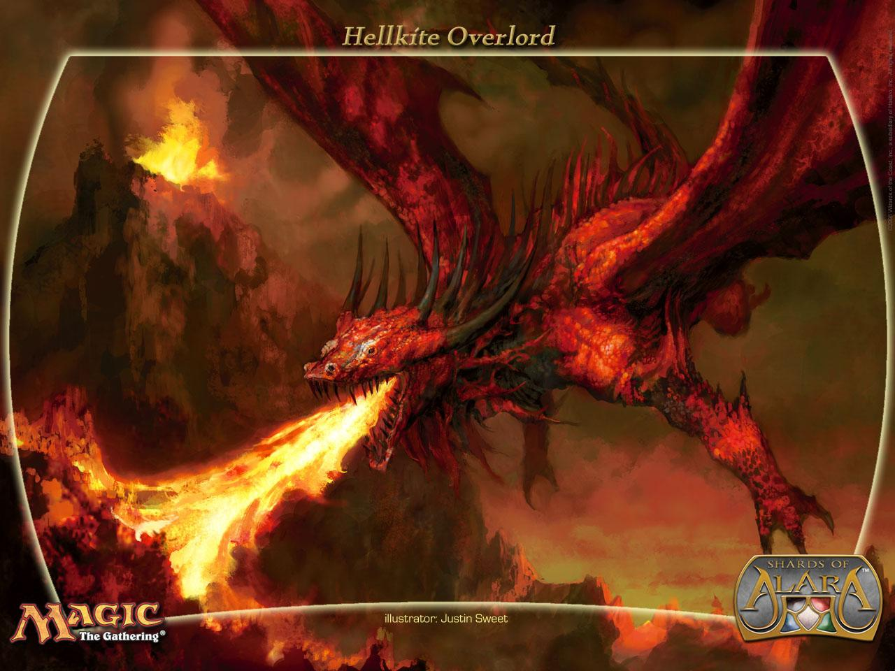 Обои Magic Gathering - Hellkite overlord 1280x960