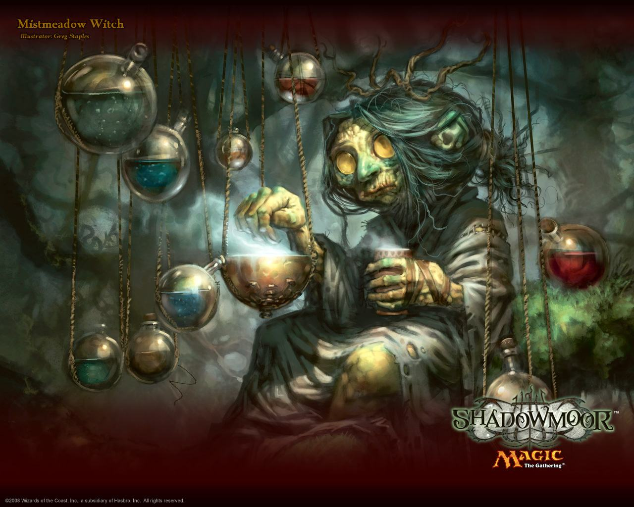 ���� Magic Gathering - witch 1280x1024