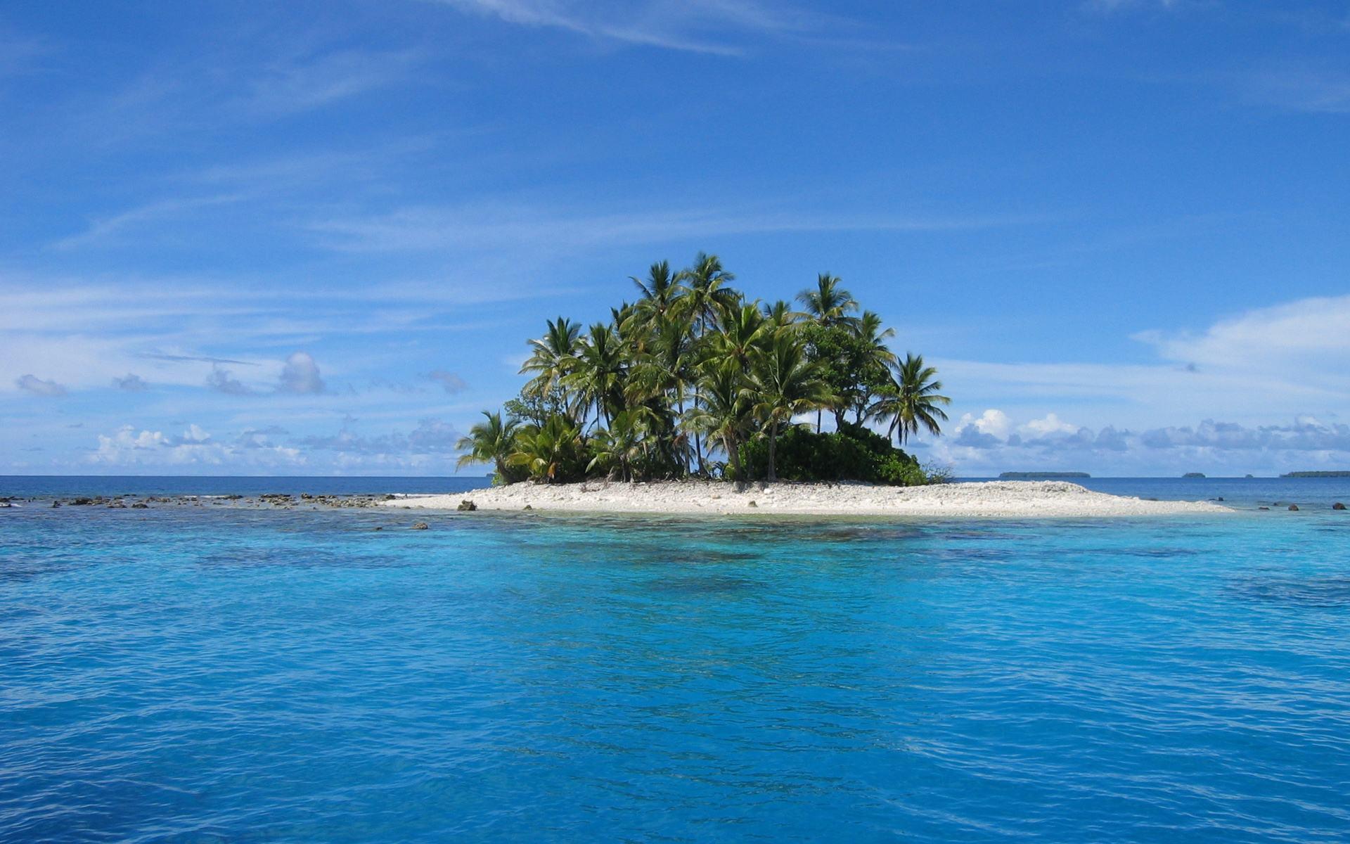 Обои маленький остров в море 1920x1200