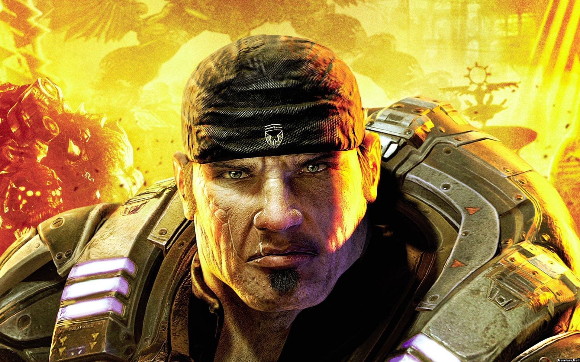 Обои Маркус, Gears of War 1920x1200