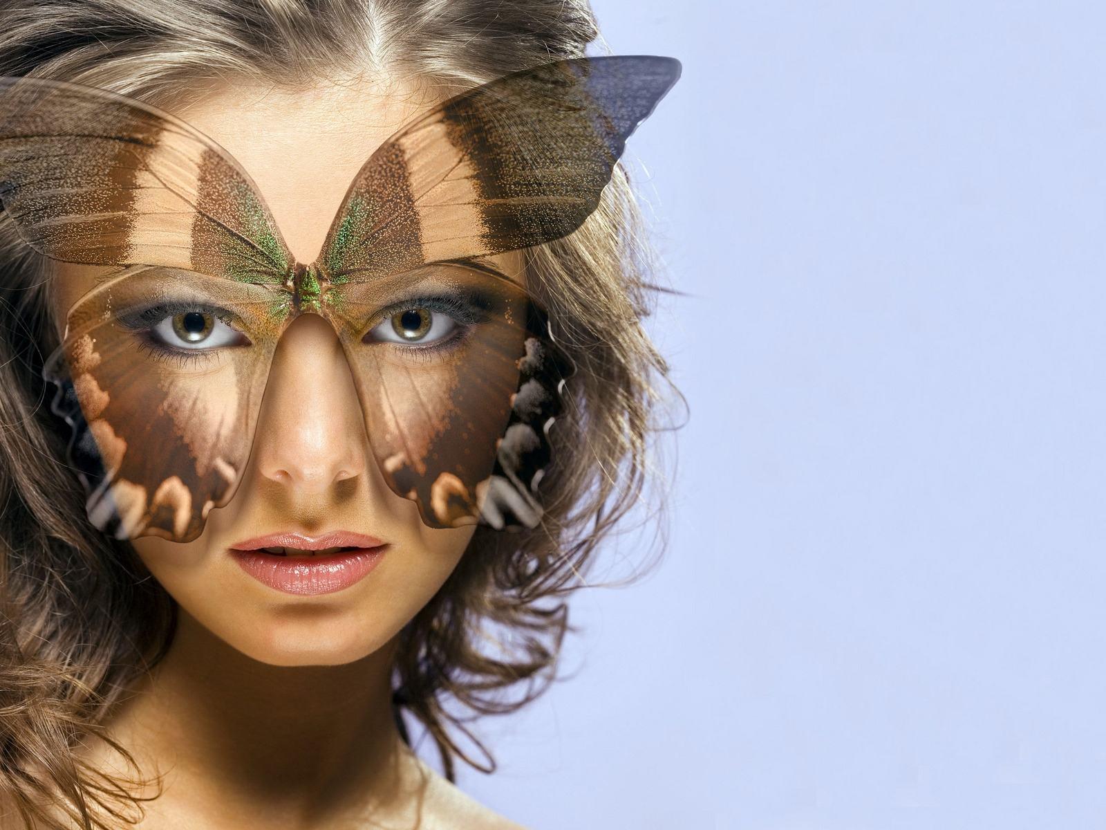 Скачать обои маска бабочки 1600x1200