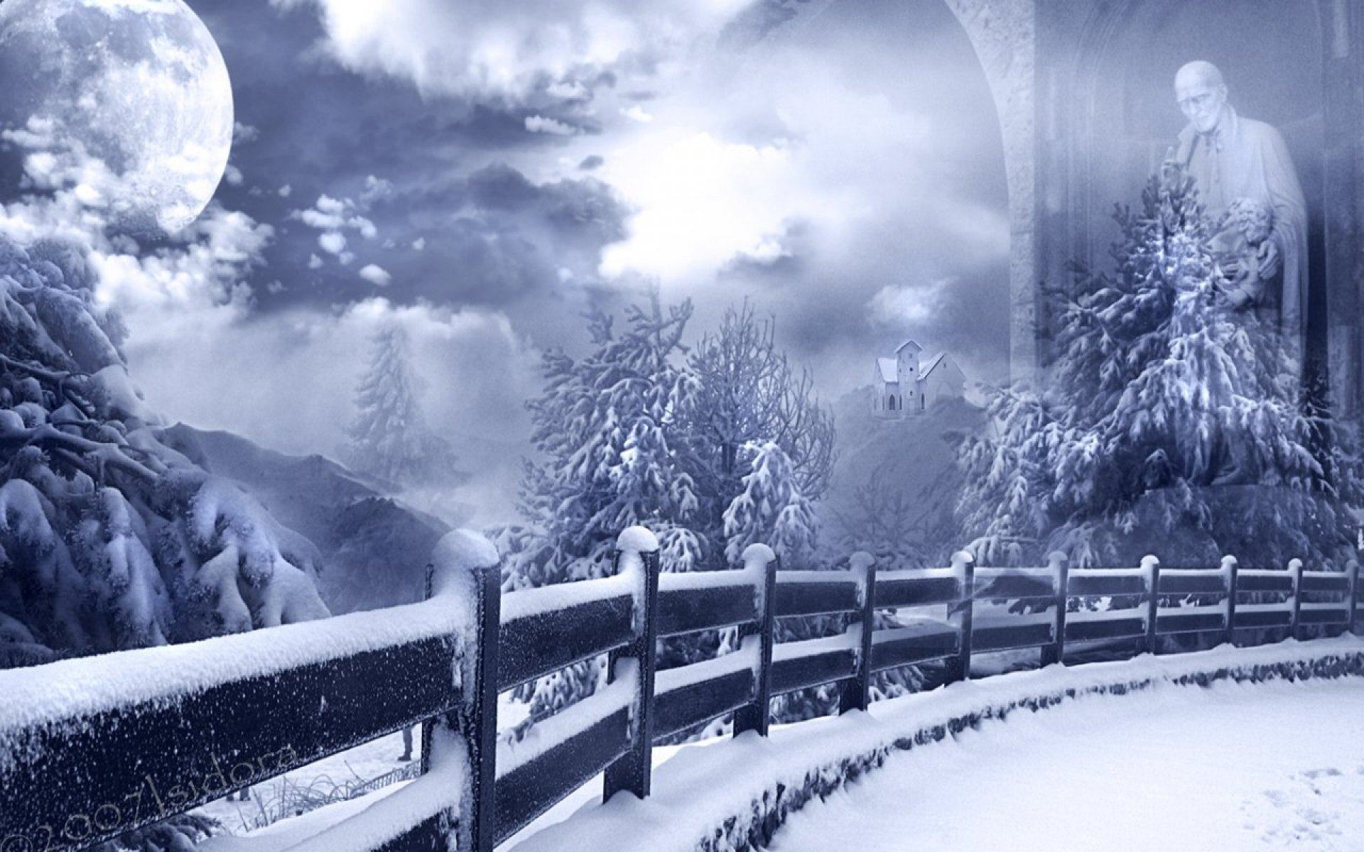 Обои Mists of winter 1920x1200