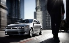 Mitsubishi Lancer in City / 1600x1200