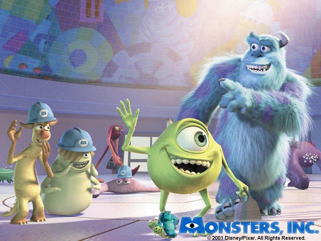 Обои Monsters Inc 1024x768