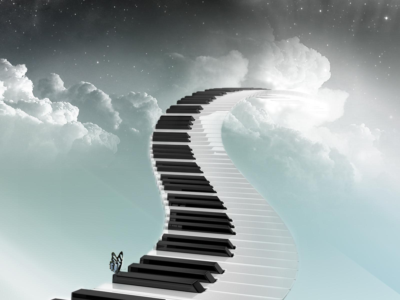 Скачать обои музыкальная лестница