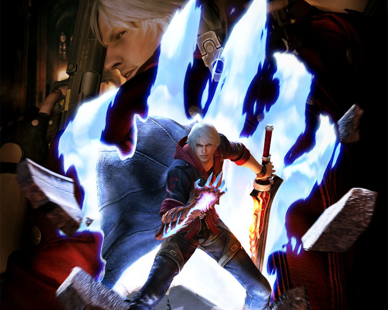 Обои Неро из Devil May Cry 4 1280x1024