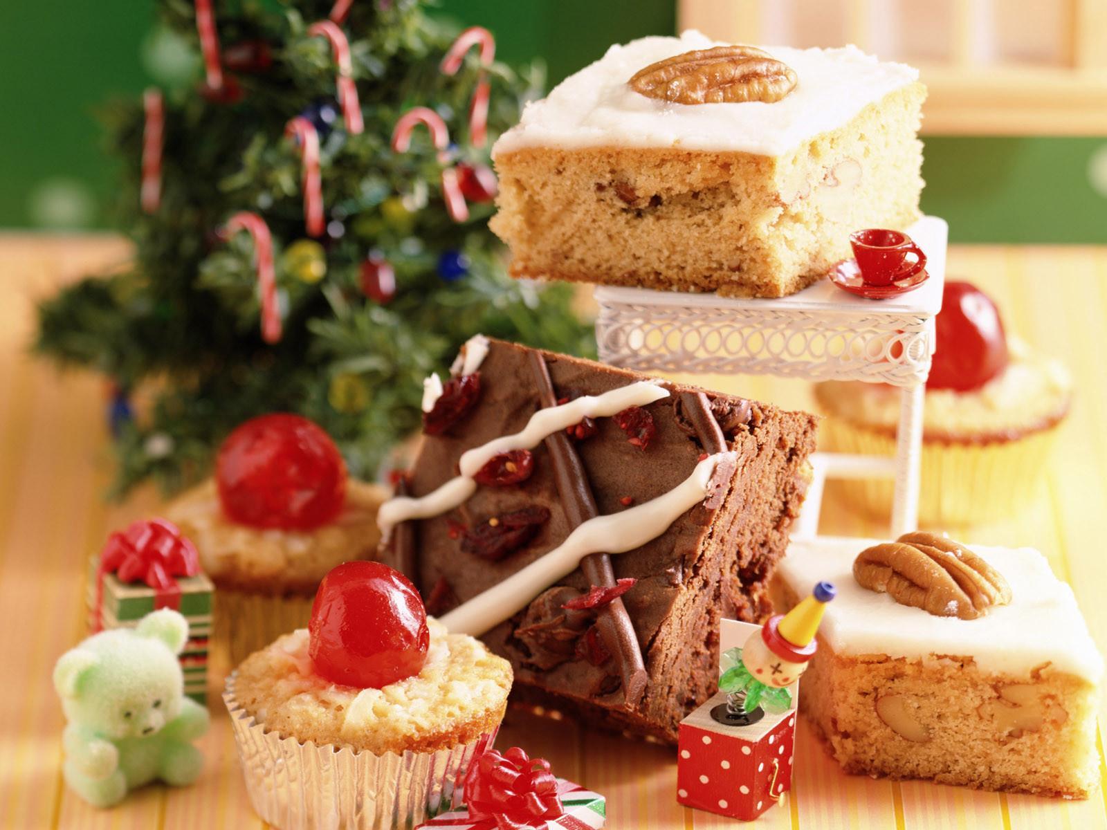 Скачать обои новогодние сладости