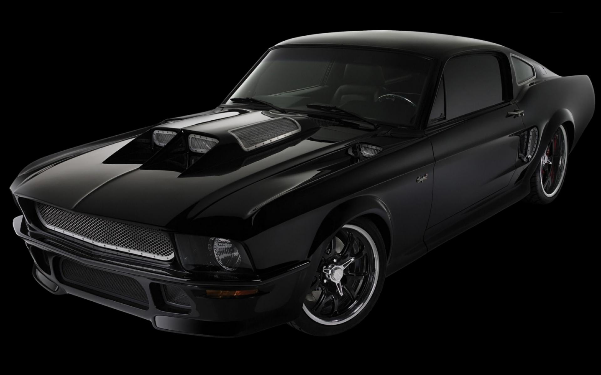 Обои Obsidian Ford Mustang 1920x1200