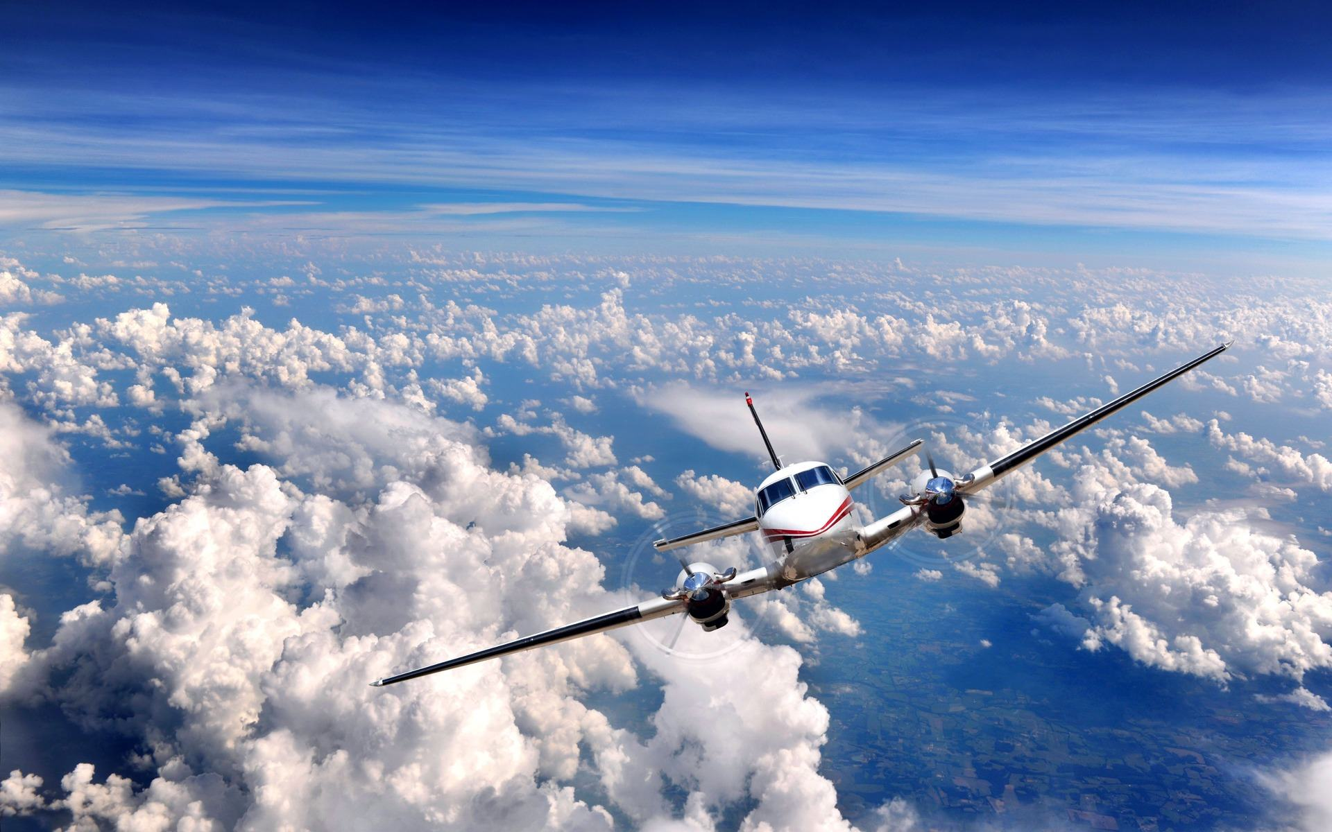 Обои Over clouds, airplane 1920x1200