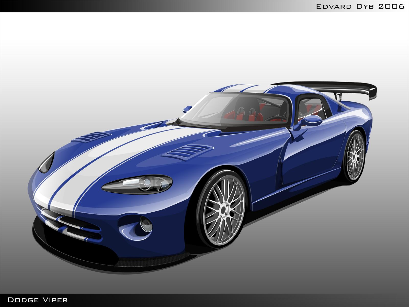 Обои Painted Car Dodge Viper 1600x1200