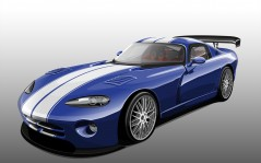 Painted Car Dodge Viper / 1600x1200