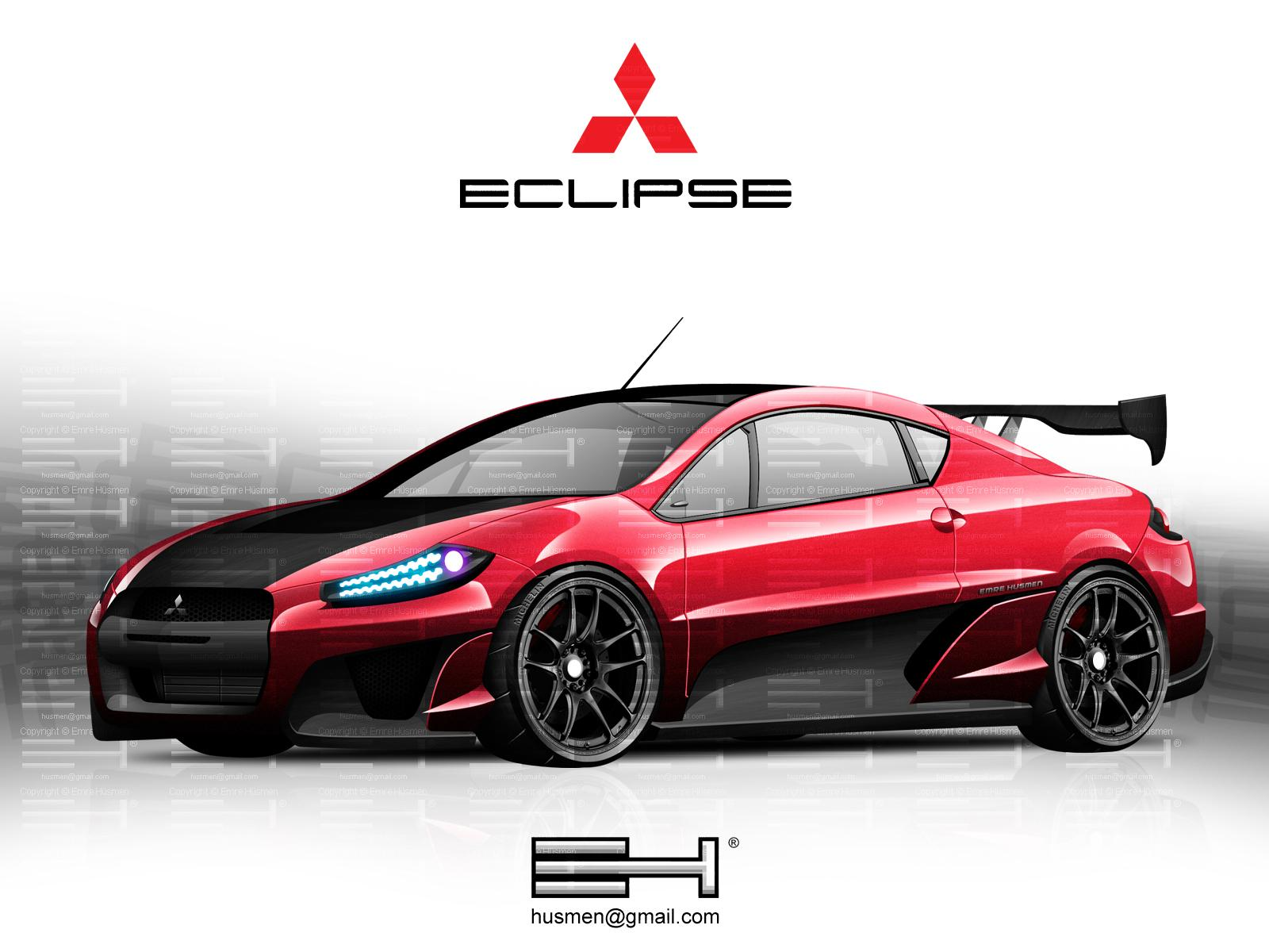 Обои Painted Car Eclipse 1600x1200