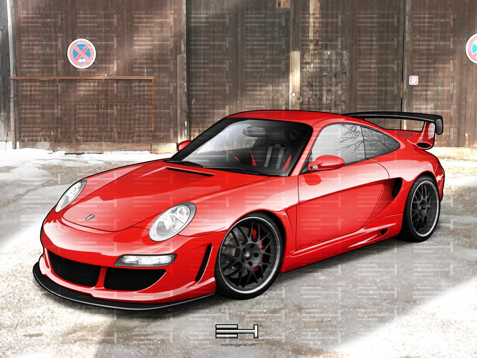 Обои Painted Car Porsche 1600x1200