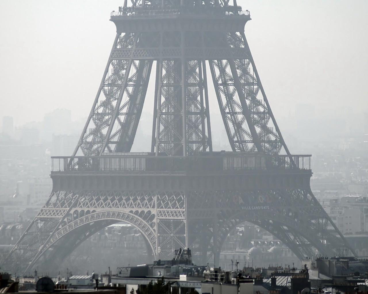 Обои париж эйфелева башня 1280x1024