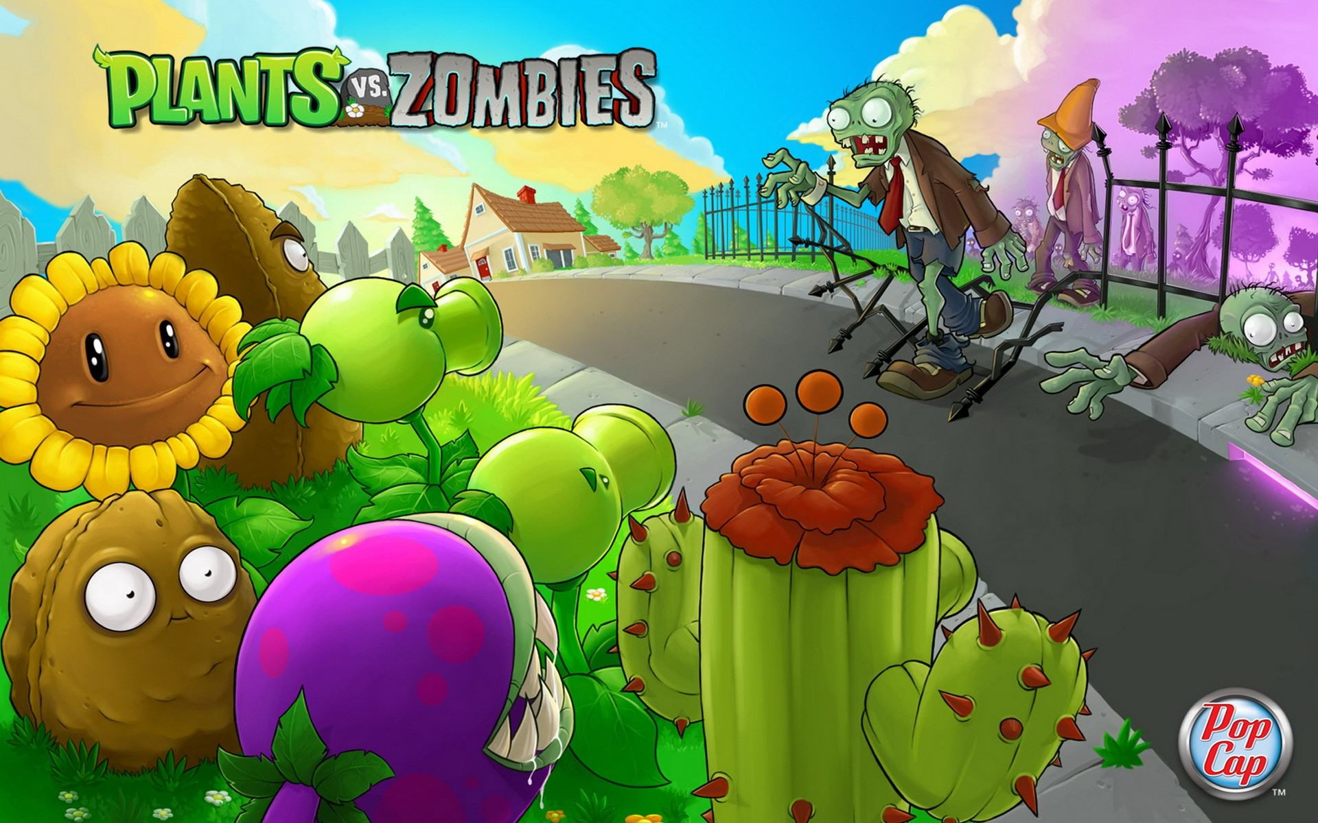 Обои Plants vs zombies 1920x1200