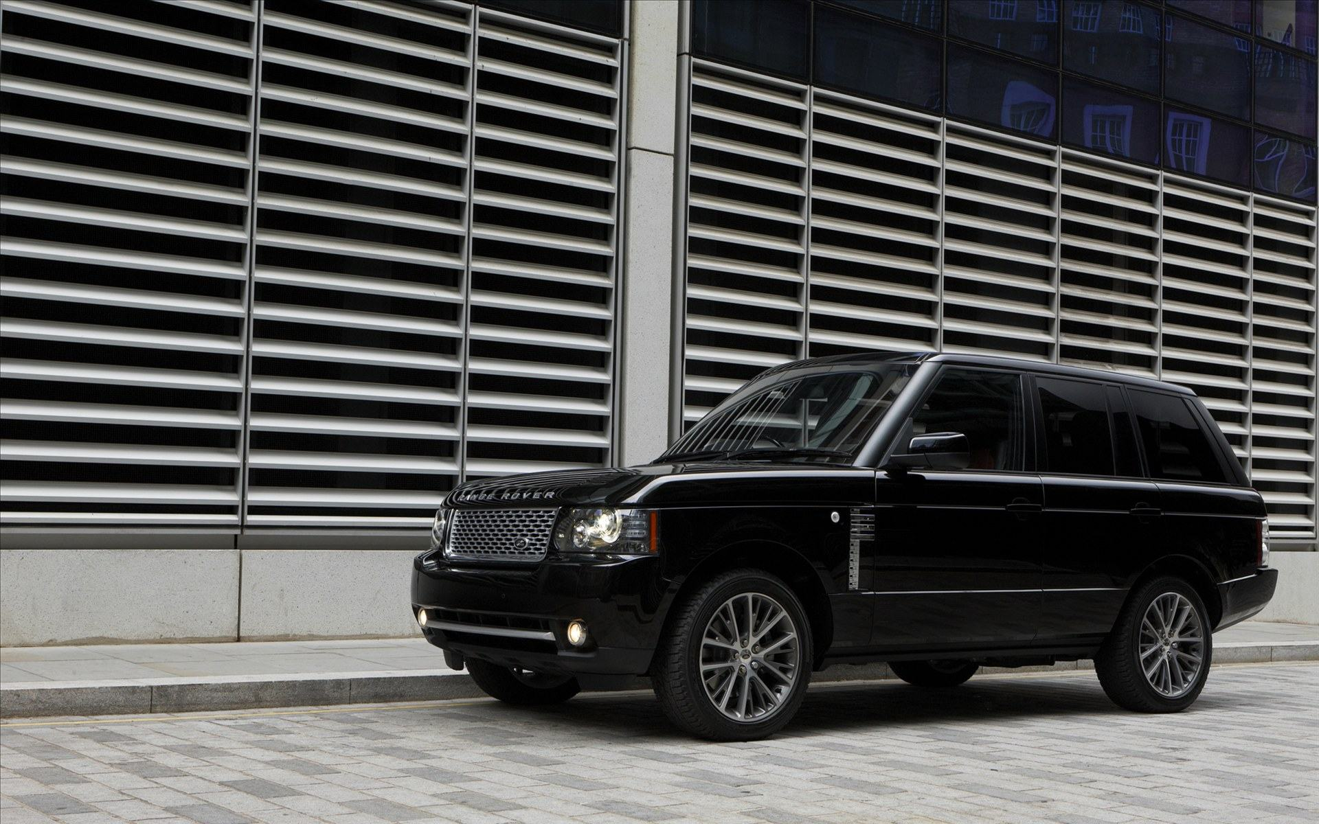 Обои Range Rover Black Edition черный 2011 1920x1200