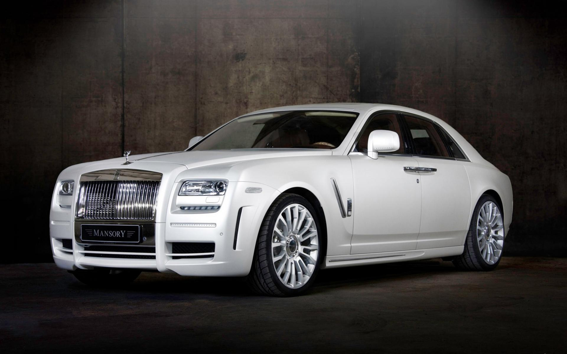 Обои Rolls Royce White Ghost 1920x1200